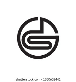 Initial ds letter logo vector template design. Linked letter sd logo design. Simple ds vector template.