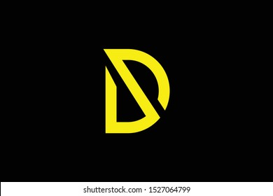 Initial DS SD modern monogram and elegant logo design, Professional Letters Vector Icon Logo on black background.