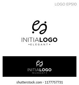 initial e circle ornament logo template vector illustration