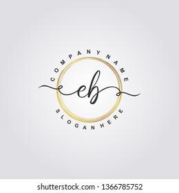 Initial EB handwriting logo