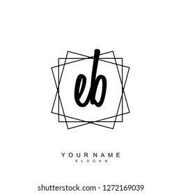 Initial EB handwriting logo vector