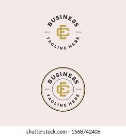 initial EC / CE logo design vector illustration