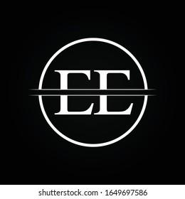 Initial EE Letter Linked Logo Business Vector Template. Creative Letter EE Logo Design