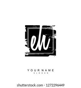 Initial EH handwriting logo vector