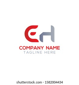 Initial EH Letter Linked Logo. Creative Letter EH Modern Business Logo Vector Template. Initial EH Logo Template Design