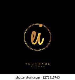 Initial EI handwriting logo vector