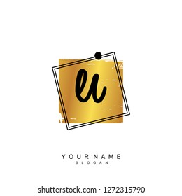 Initial EI handwriting logo vector