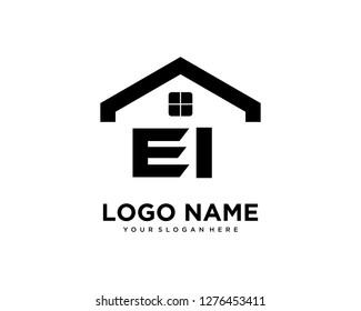 Initial EI home logo vector.