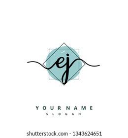 Initial EJ handwriting logo