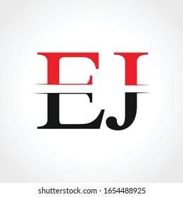 Initial EJ Letter Linked Logo Business Vector Template. Creative Letter EJ Logo Design