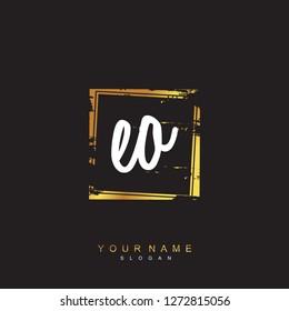 Initial EO handwriting logo vector