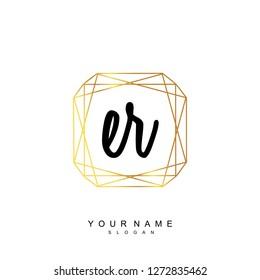 Initial ER handwriting logo vector