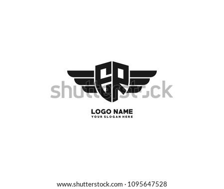 Initial Er Wing Logo Template Vector Image Vectorielle De Stock