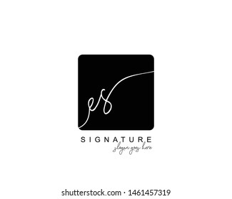 Initial ES beauty monogram and elegant logo design, handwriting logo of initial signature, wedding, fashion, floral and botanical with creative template.