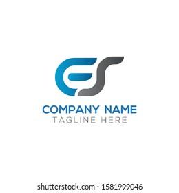 Initial ES Letter Linked Logo. Creative Letter ES Modern Business Logo Vector Template. Initial ES Logo Template Design