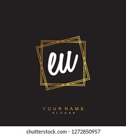 Initial EU handwriting logo vector
