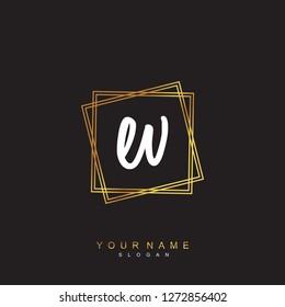 Initial EV handwriting logo vector