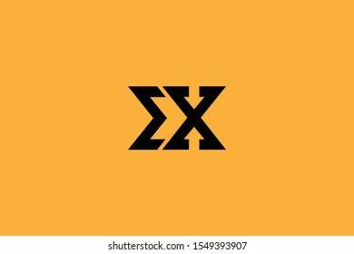 Initial EX XE Letter Logo Design Vector Template. Monogram and Creative Alphabet E X Letters icon Illustration.