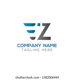 Initial EZ Letter Linked Logo. Creative Letter EZ Modern Business Logo Vector Template. Initial EZ Logo Template Design