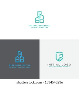 the initial EZ logo set concept with a vector building template for construction and a modern LZ logo set, an Inspirational logo design for all companies. - Vector