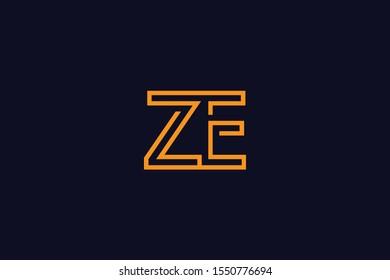 Initial EZ ZE E Z Letter Logo Design Vector Template. Monogram and Creative Alphabet E U Letters icon Illustration.