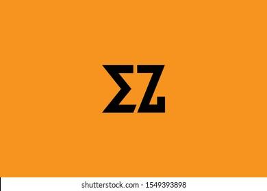 Initial EZ ZE Letter Logo Design Vector Template. Monogram and Creative Alphabet E Z Letters icon Illustration.