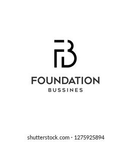 Initial F B logo design template for bussines