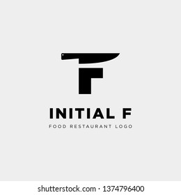 initial f food equipment simple logo template vector icon abstract