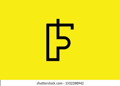 Initial F FP PF modern monogram and elegant logo design, Professional Letters Vector Icon Logo on yellow background.