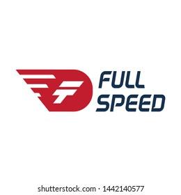 Initial F + Piston Modern Logo Design Template