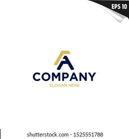 Initial FA Logo monogram design template. Simple elegant shape style modern logo.