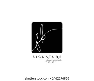 Initial FB beauty monogram and elegant logo design, handwriting logo of initial signature, wedding, fashion, floral and botanical with creative template.