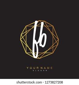 Initial FB handwriting logo vector