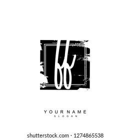 Initial FF handwriting logo vector