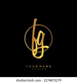 Initial FG handwriting logo vector