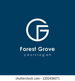 initial fg logo template