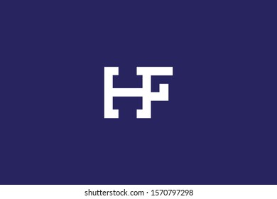 Initial FH HF Letter Logo Design Vector Template. Monogram and Creative Alphabet F H Letters icon Illustration.