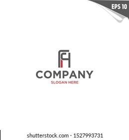 Initial FH Logo monogram design template. Simple elegant shape style modern logo.