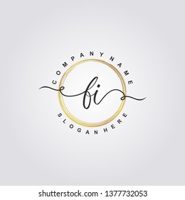Initial FI handwriting logo