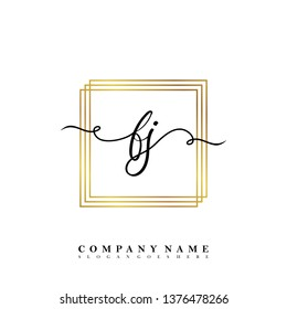 Initial FJ handwriting logo