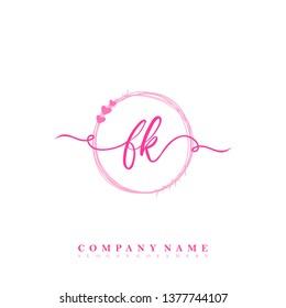 Initial FK handwriting logo