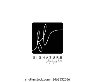 Initial FL beauty monogram and elegant logo design, handwriting logo of initial signature, wedding, fashion, floral and botanical with creative template.