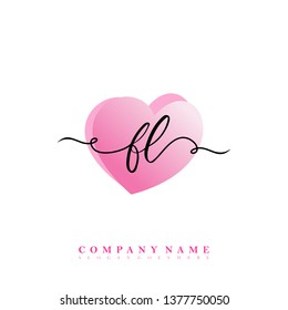 Initial FL handwriting logo