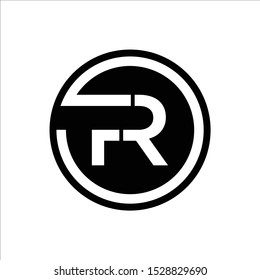 Initial FR or RF logo