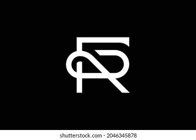 Initial FR RF modern monogram and elegant logo design, Professional Letters Vector Icon Logo on black background