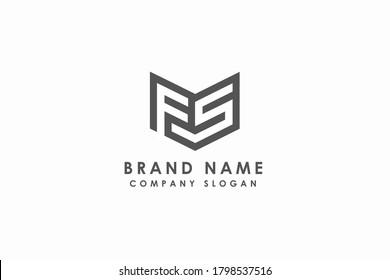 Initial FS letter logo. Business brand,vector logo element