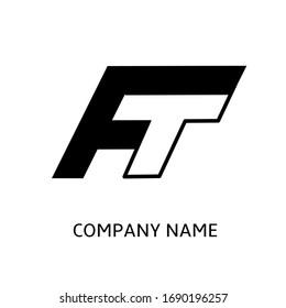 Initial FT logo.  A logo concept for brands, companies, businesses, clothing designs, web, etc.