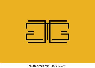 Initial G GG modern monogram and elegant logo design, Professional Letters Vector Icon Logo on background.