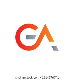 Initial GA Letter Linked Logo Design. Abstract GA vector Template