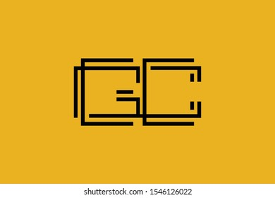 Initial GC CG modern monogram and elegant logo design, Professional Letters Vector Icon Logo on background.